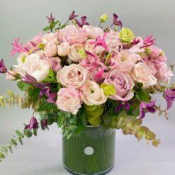 Le bouquet et son vase